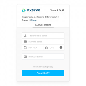 pagamento tramite email con axerve pay by link